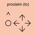 proclaim (to)