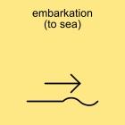embarkation (to sea)