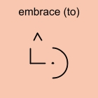 embrace (to)