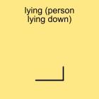 lying (person lying down)