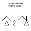 sister-in-law (wife