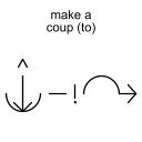 make a coup (to)