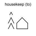 housekeep (to)
