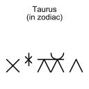 Taurus (in zodiac)