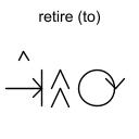 retire (to)