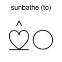 sunbathe (to)