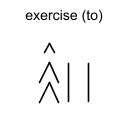 exercise (to)