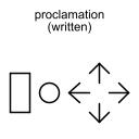 proclamation (written)